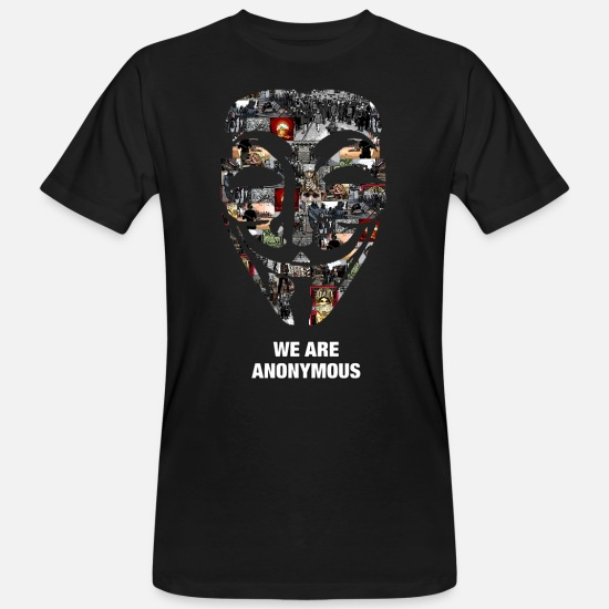 Anonymous T-shirts - anonymous - T-shirt bio Homme noir