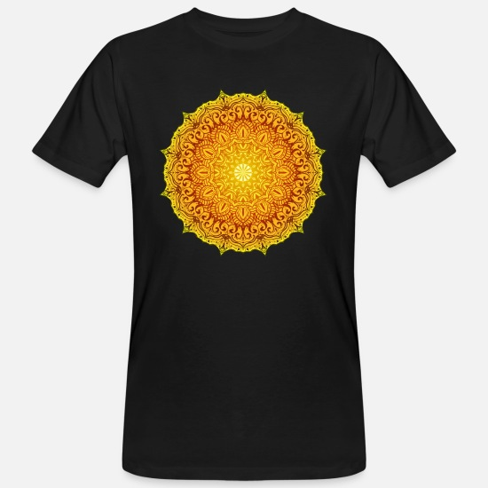Floral T-Shirts - Mandala 14 - Men's Organic T-Shirt black