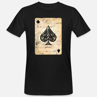 Pik Poker Karte Pik As - Männer Bio T-Shirt