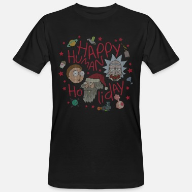 Rick and Morty Happy Human Holiday Jumper - Ekologisk T-shirt herr