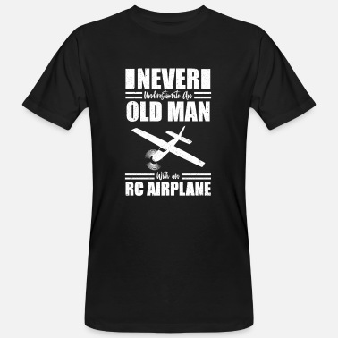 Senior Senior RC Airplane Flying Aircraft - Men's Organic T-Shirt