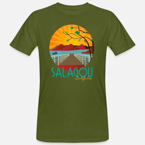 Style T-shirts - Salagou Style 2018 - T-shirt bio Homme vert mousse