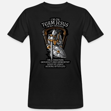 Soldier Knight Templar Crusader Shirt - I'm on Team Jesus - Men's Organic T-Shirt