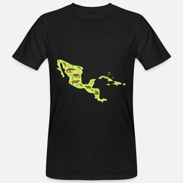 Central America Central America Travel Map Central America - Men's Organic T-Shirt