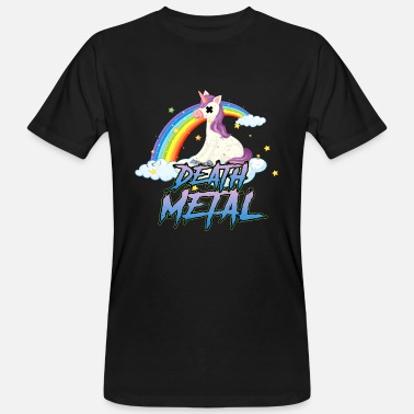 Unicorn Lustige Death Metal Unicorn Cute Rock Musik Band - Männer Bio T-Shirt
