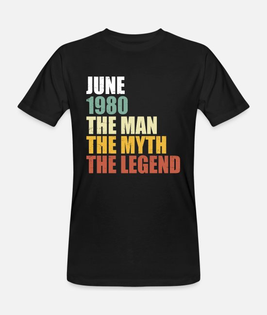 40th Birthday T-Shirts - Birthday June 1980 - 40th birthday retro - Men's Organic T-Shirt black