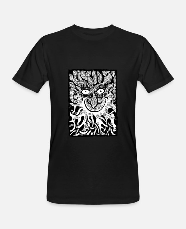 Nature T-Shirts - The Green Man [v2] - Men's Organic T-Shirt black