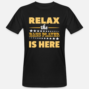 Relax Bassist Relax Musician Music Bass Gift - Maglietta ecologica uomo