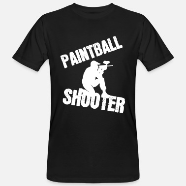 Dispararse Paintball - Camiseta orgánica hombre