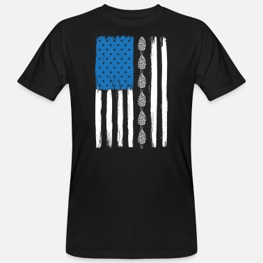 Independence American Flag Mushroom Lover Mycology - Men's Organic T-Shirt