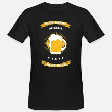 Father's Day Dad Daddy Beer - Men's Organic T-Shirt
