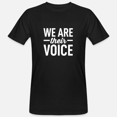 Welfare Animal Welfare - We Are Their Voice - Men's Organic T-Shirt