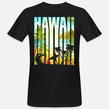 Hawaii Honolulu Surf - Männer Bio T-Shirt