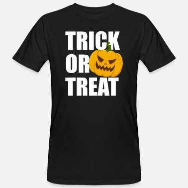 Halloween Trick or Treat Horror Pumpkin Pumpkin - Økologisk T-shirt mænd