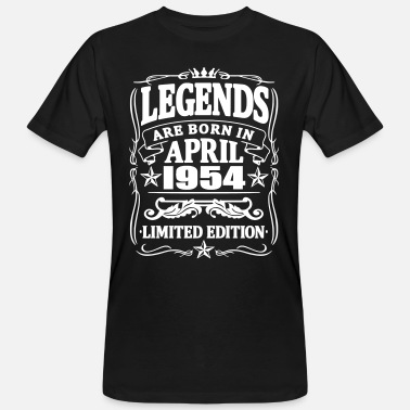 1954 Legends are born in april 1954 - Men's Organic T-Shirt