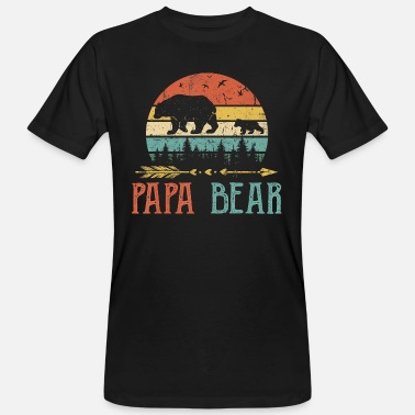 Papa bear T Shirt Vintage Daddy Wildling Father - Men's Organic T-Shirt