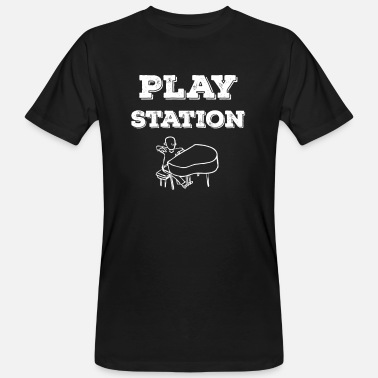 Station Play Station - Männer Bio T-Shirt