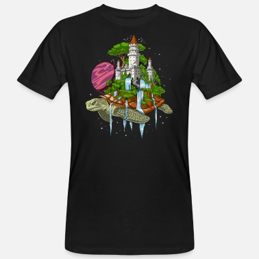 Space Turtles Space Turtle Psychedelic Cosmic Tortoise - Männer Bio T-Shirt