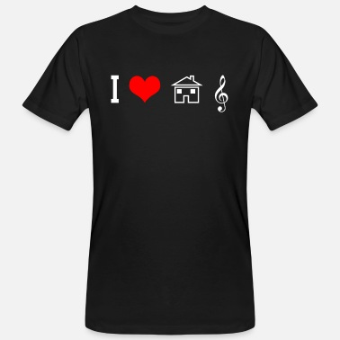 House I Love House Music - DJ EDM Rave Gift - Maglietta ecologica uomo
