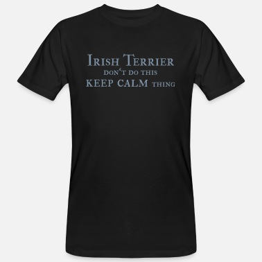 Irish Terrier keep calm - Männer Bio T-Shirt