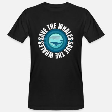 Save The Whales Save the Whales Protest March design - Økologisk T-skjorte for menn