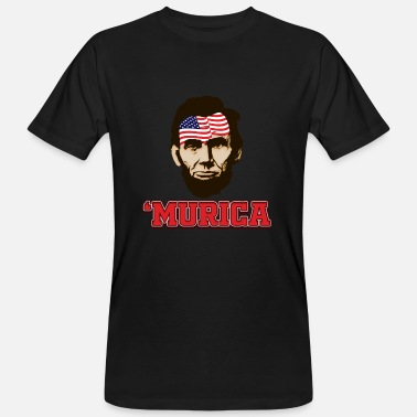 Murica Murica Lincoln - Camiseta orgánica hombre