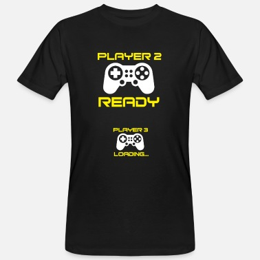 Player Player 2 ready, Player 3 loading - Pregnant Shirt - Men's Organic T-Shirt