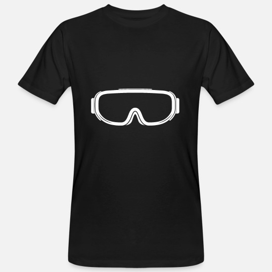 Mountains T-Shirts - Ski goggles in white - Men's Organic T-Shirt black