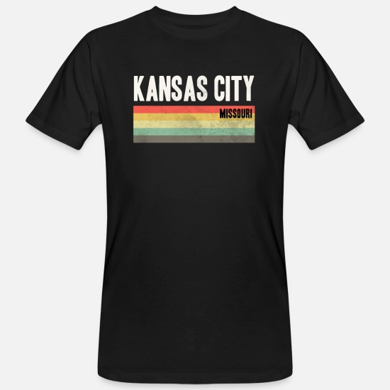 City T-Shirts - KCMO Kansas City design Gift - Men's Organic T-Shirt black