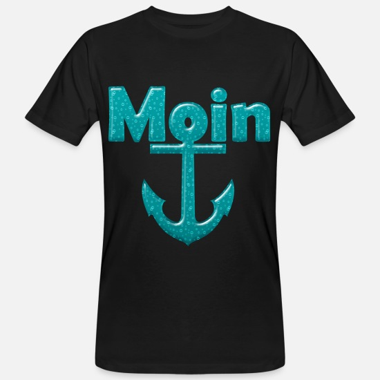 Harbour T-Shirts - North Sea Baltic Sea Low German North German Gift - Men's Organic T-Shirt black