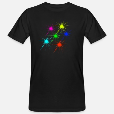 color blob colorful techno rave - Men's Organic T-Shirt