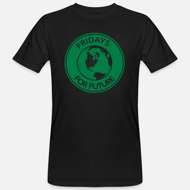 Fridays For Future Fridays for Future - supportlogotyp - Ekologisk T-shirt herr