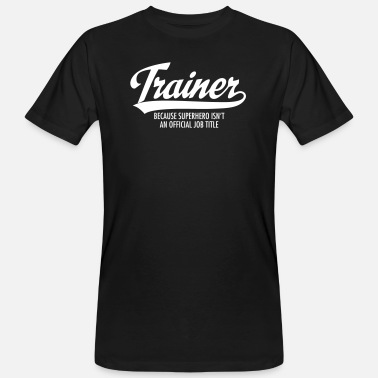 Coach Trainer - Superhero - Mannen bio T-shirt