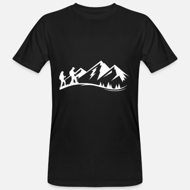 Landside Hiking Mountain Climbing Travel Bug Walking - Männer Bio T-Shirt