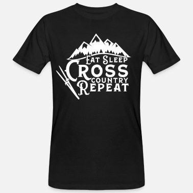 Cross Country Cross Country Ski Cross Country Ski - Männer Bio T-Shirt