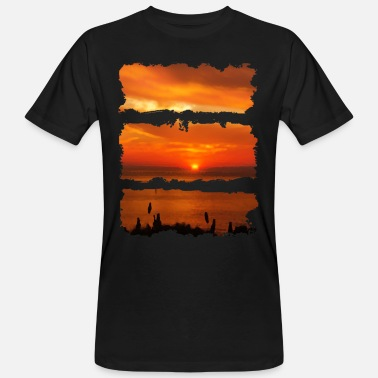 Paint Sunset painting - Men's Organic T-Shirt