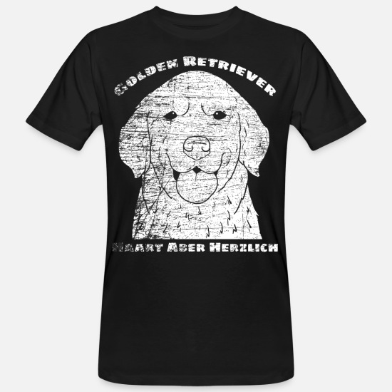 Retriever T-shirts - Golden retrievers - T-shirt bio Homme noir