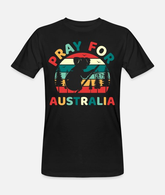 Australia T-Shirts - Pray For Australia Bush Fire - Men's Organic T-Shirt black