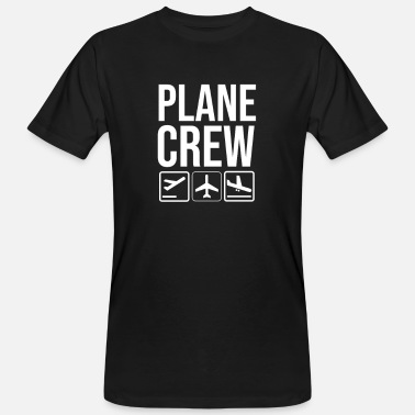 Crew Airplane crew cabin crew flight attendants - Men's Organic T-Shirt