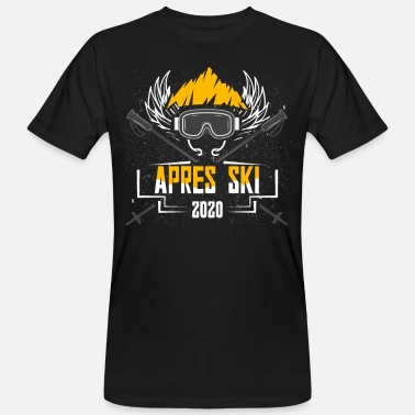 Apres ski party outfit voor skiërs wintersport - Mannen bio T-shirt
