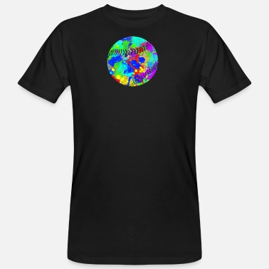 Outfielder Baseball color blob design - Men's Organic T-Shirt