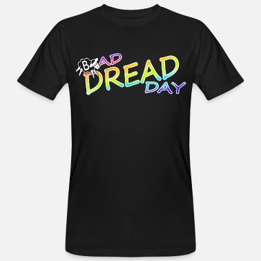 Rastafari Bad Dread Day Rainbow Colorful - Men's Organic T-Shirt