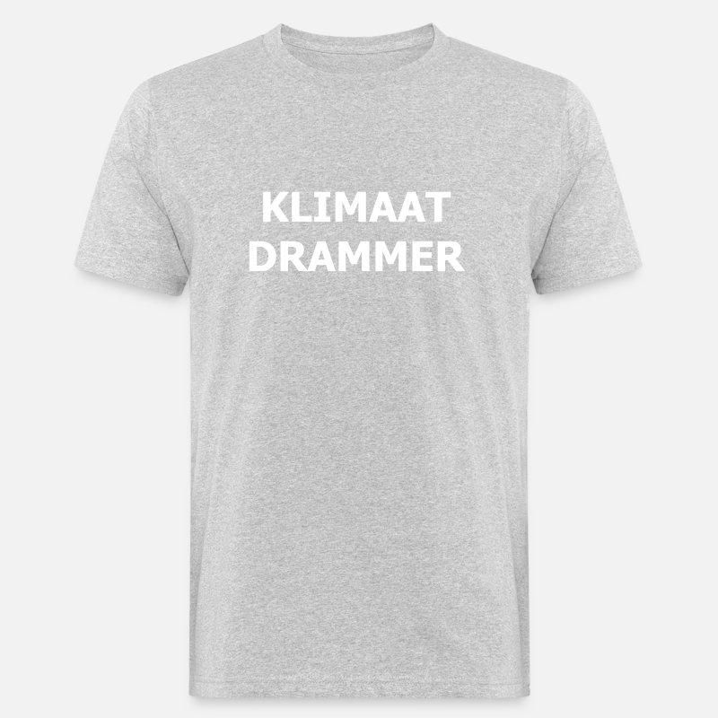Klimaat Drammer Mannen bio T shirt   Spreadshirt