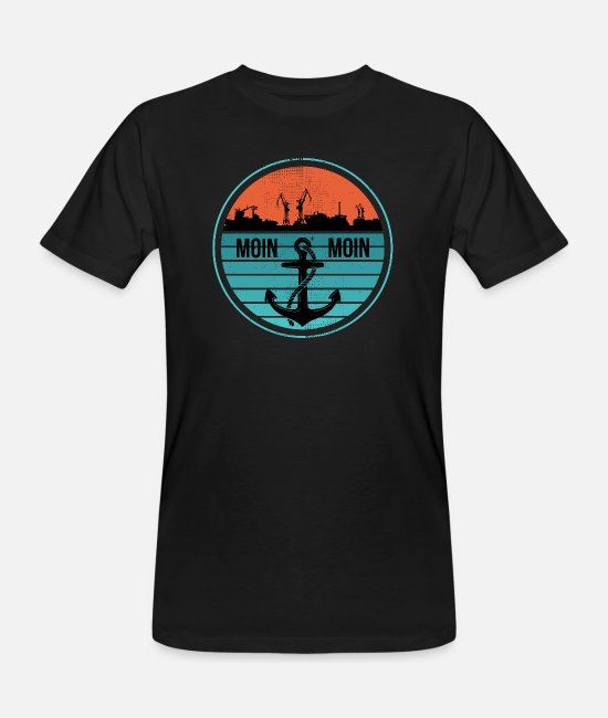 Northern Germany T-Shirts - Low German North German North Germany Harbor - Men's Organic T-Shirt black
