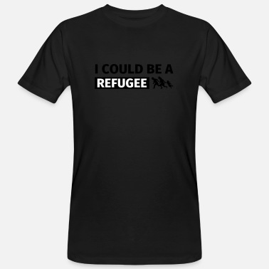 Refugees Welcome I could be a refugee - Ekologisk T-shirt herr