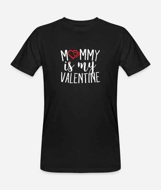Teenager T-shirts - Mommy er min Valentine Sweet Hearts Cupid - Økologisk T-shirt mænd sort