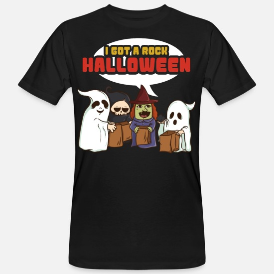 Gift Idea T-Shirts - I have a rock Halloween - Men's Organic T-Shirt black