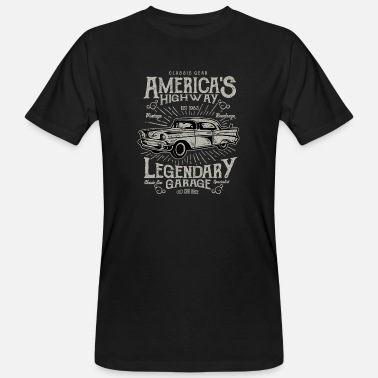 Americas USA: s Legendary Highway - Ekologisk T-shirt herr