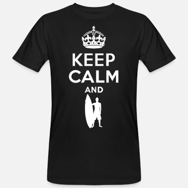Keep Calm - Surfen 2 - Mannen bio T-shirt
