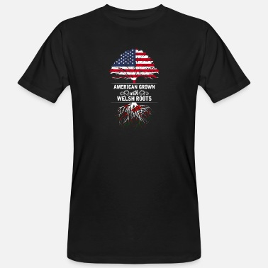 Wales American grown with Welsh roots. - Men's Organic T-Shirt